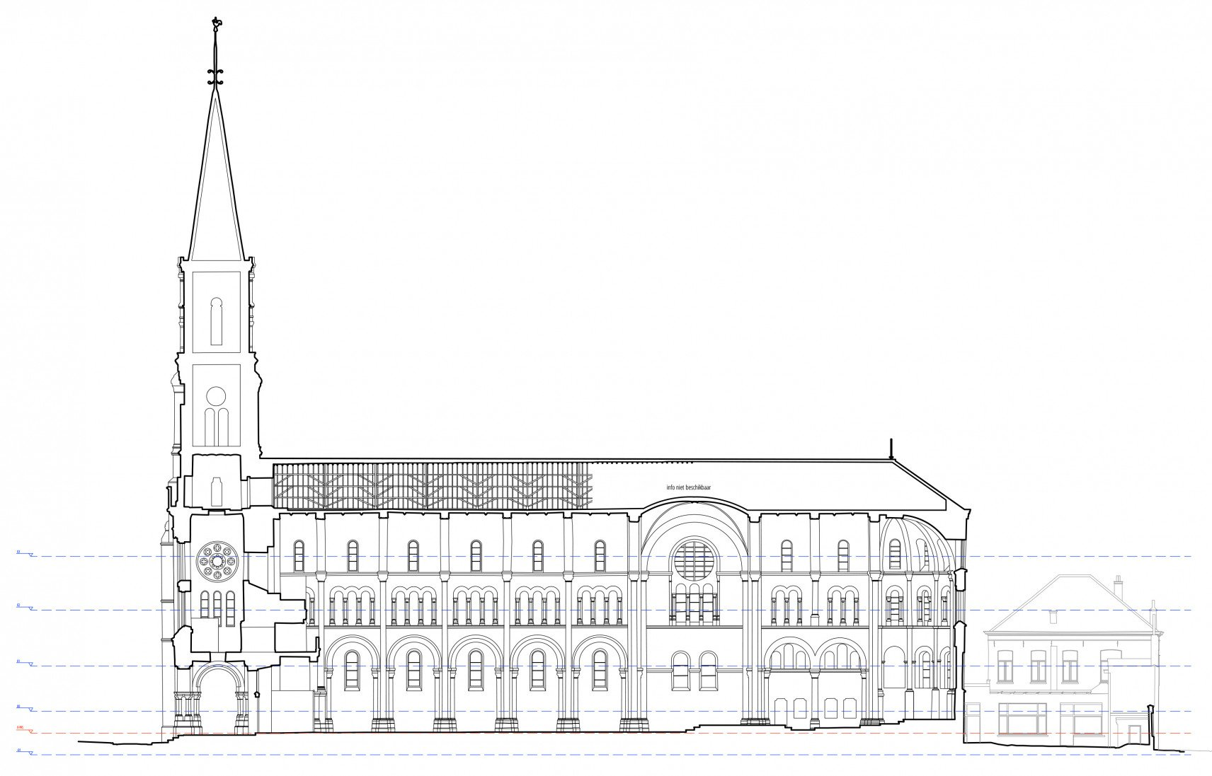 Sint-Amandskerk, Roeselare | 2D-drawings section right
