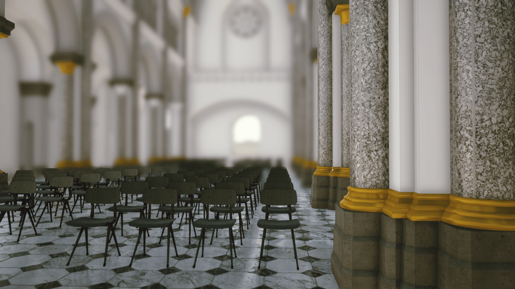Kerk, Roeselare, 3D mapping, 3D animatie