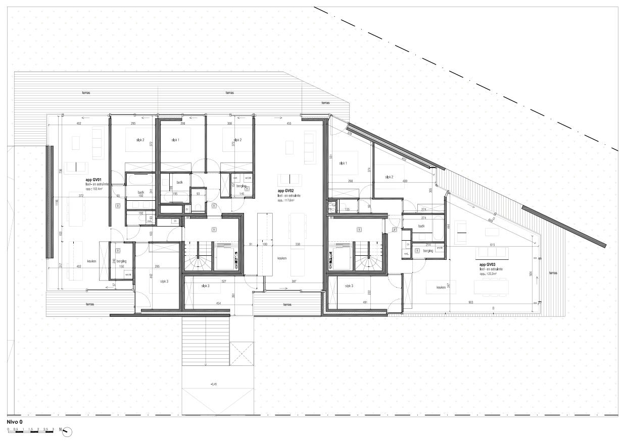 Hans Wegner - Duin appartementen - gelijkvloers