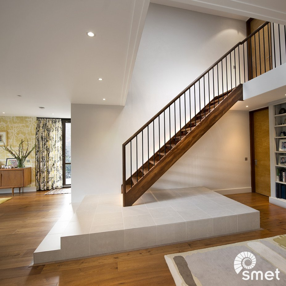 staircase with solid Afzelia wood