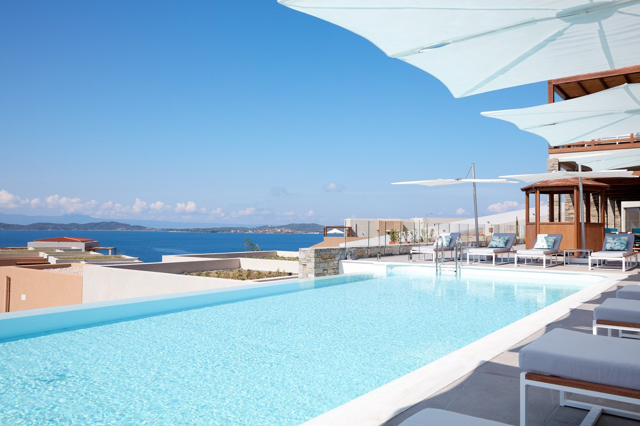 Spectra at the swimming pool Eagles Villas Greece