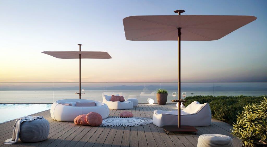 Infina UX ombrellone da terrazzo_Culture_Infina_LR, Sunbrella Blush