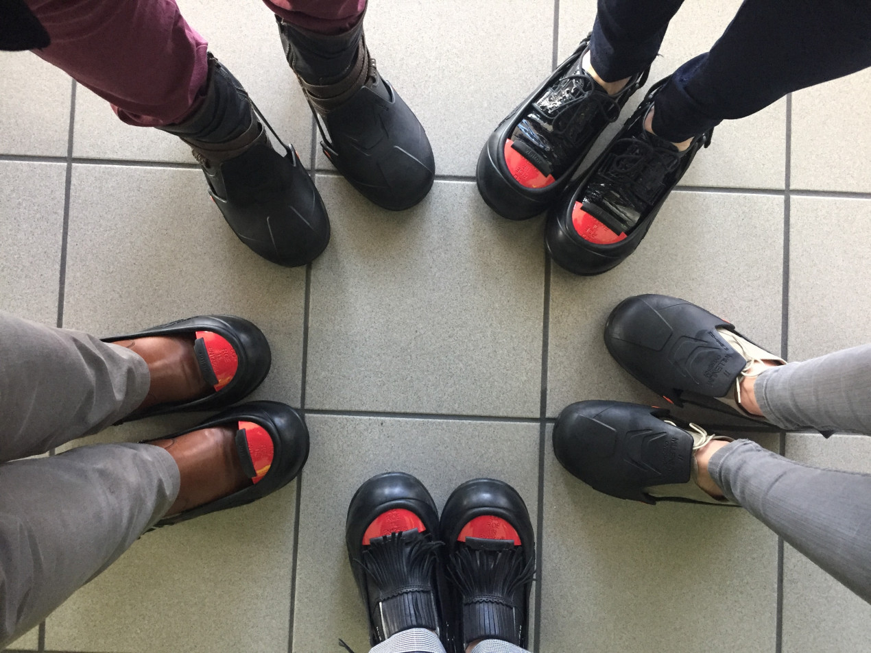We must wear Safety Shoes for the visit