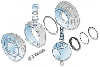 Ball shutter valves for bulk