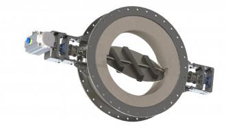 Image refractory valves half open