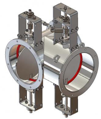 Image three-way valves isometric