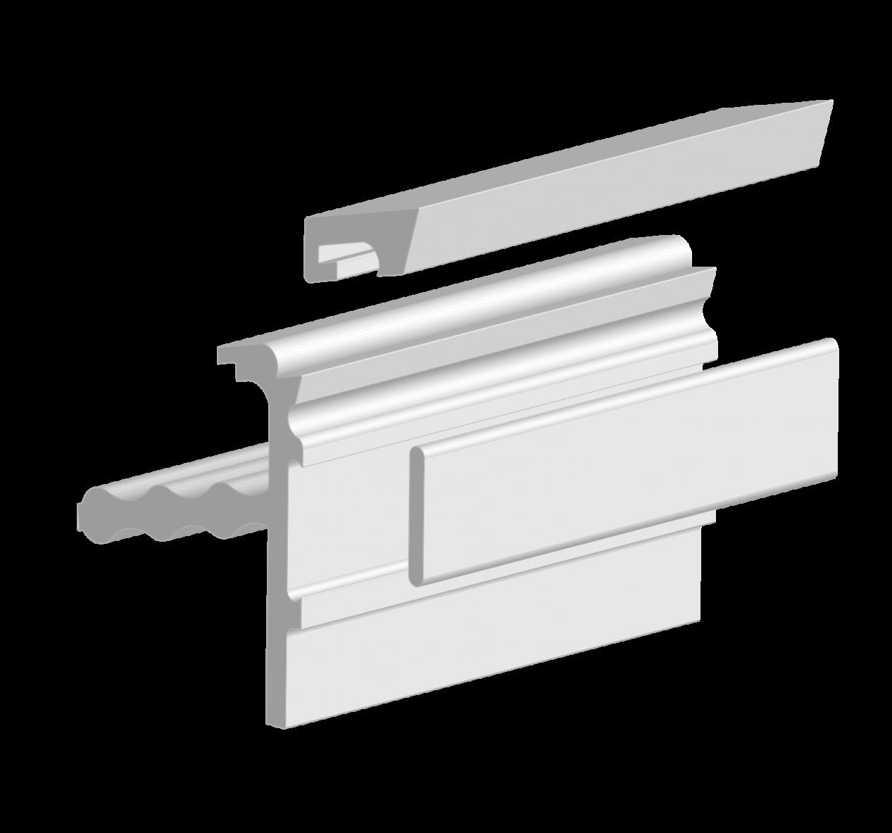 Een revolutionair dakrandprofiel dat onzichtbaar wordt na de verwerking! Volledig dakrandprofiel (alle componenten samen).png